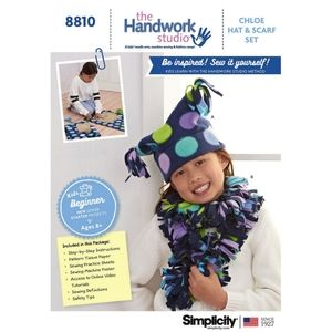 Kids beginner sewing pattern hat/scarf simplicity